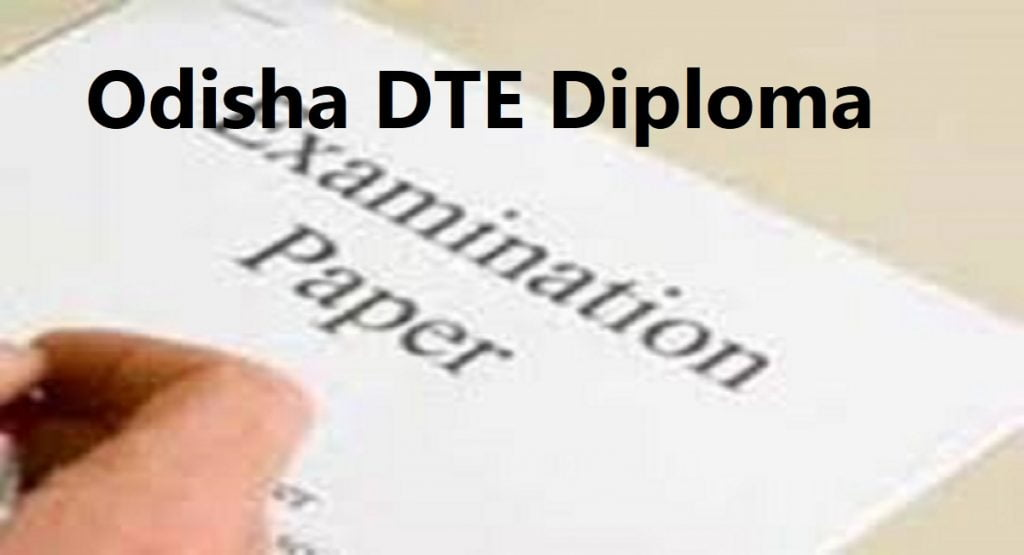DTE Odisha Diploma Model Question Paper 2019 1st 2nd 3rd 4th 5th 6th Sem Sample Question Paper 2019