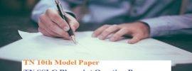TN 10th Model Paper 2020 TN SSLC Blueprint Question Paper 2020